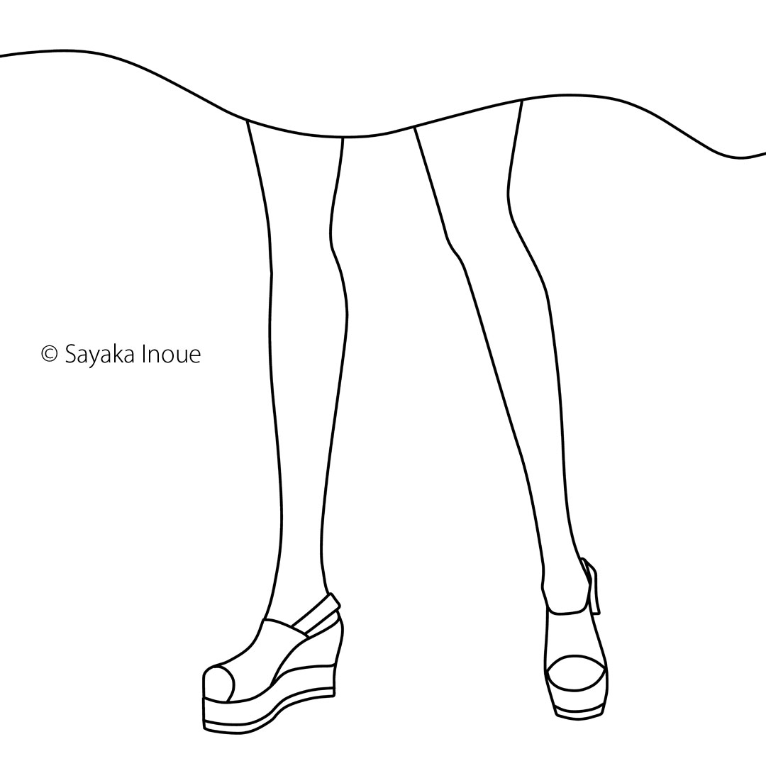 simple -drawing woman legs